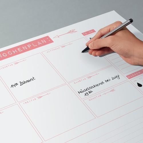 Schreibunterlage Mein Wochenplan 42x29,7cm 30Blatt Papier Sigel HO507 Produktbild Additional View 4 L