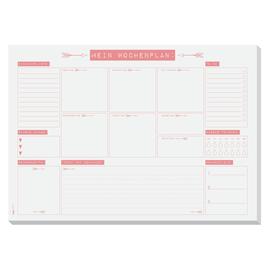 Schreibunterlage Mein Wochenplan 42x29,7cm 30Blatt Papier Sigel HO507 Produktbild
