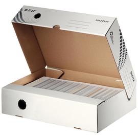 Archivbox easyboxx 80x250x350mm Rückenbreite 80mm weiß Leitz 6134-00-00 Produktbild