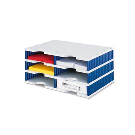 Sortierstation styrodoc duo mit 6 Fächern grau/blau Styro 268-0203.38 Produktbild