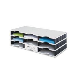 Sortierstation styrodoc trio mit 9 Fächern grau/schwarz Styro 268-0303.98 Produktbild