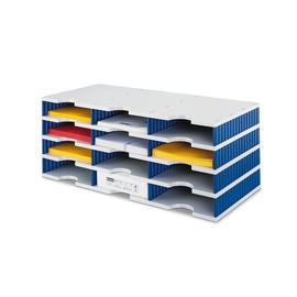 Sortierstation styrodoc trio mit 12 Fächern grau/blau Styro 268-0304.38 Produktbild