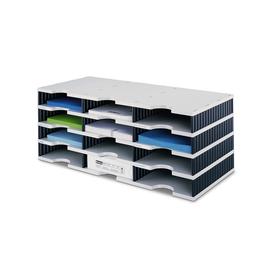 Sortierstation styrodoc trio mit 12 Fächern grau/schwarz Styro 268-0304.98 Produktbild