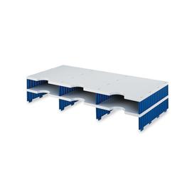Erweiterungs-Set für styrodoc trio 6 Fächer grau/blau Styro 268-1302.38 Produktbild