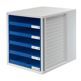 Schubladenbox 5 Schübe offen 275x330x320mm blau Kunststoff HAN 1401-14 Produktbild