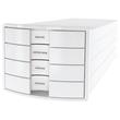 Schubladenbox IMPULS 4 Schübe geschlossen 294x235x368mm Gehäuse weiß Schübe weiß HAN 1012-12 Produktbild