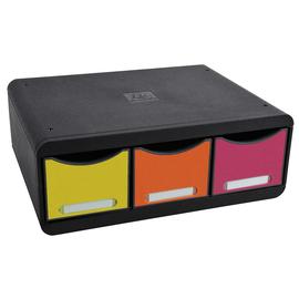 Schubladenbox toolbox maxi 3 Schübe 35,5x27x13,4cm classic harlekin Exacompta 318798D Produktbild
