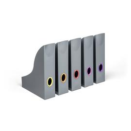 Stehsammler Set Varicolor A4 73x306x241mm Grifflöcher farbig sortiert Kunststoff Durable 7706-57 (PACK=5 STÜCK) Produktbild
