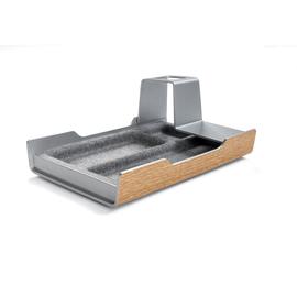 Schreibtisch-Organizer smartstyle 240x150x36mm Metallic-Holz mit Filz Acryl Sigel SA400 Produktbild