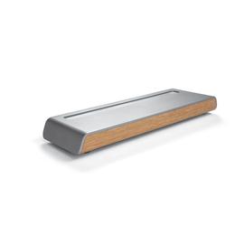 Stifteschale smartstyle 240x75x22,5 mm Metallic-Holz mit Filz Acryl Sigel SA401 Produktbild