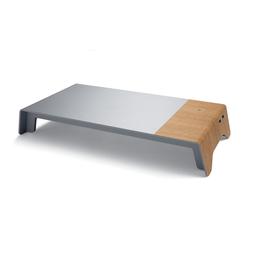 Monitorständer USB&induktives Laden smartstyle 520x250x80mm Metallic-Holz Acryl Sigel SA405 Produktbild