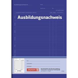 Ausbildungsnachweisbuch für wöchentliche Eintragungen 1 Woche/1 Seite A4 28Blatt blau Brunnen 104257001 Produktbild