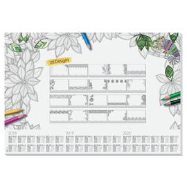Schreibunterlage Adult Coloring mit 3-Jahres Kalender 41x59,5cm 20Blatt zum Ausmalen Papier Sigel HO540 Produktbild