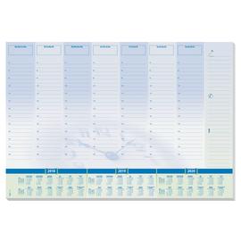 Schreibunterlage Time mit Wochenplan, Stundenplan und 3-Jahres Kalender 595x410mm 30Blatt Papier Sigel HO350 Produktbild