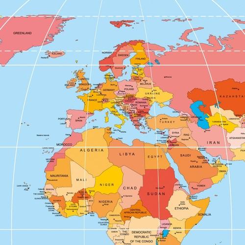 Schreibunterlage Weltkarte mit 2-Jahres Kalender 41x59,5cm 30Blatt Papier Sigel HO440 Produktbild Additional View 1 L