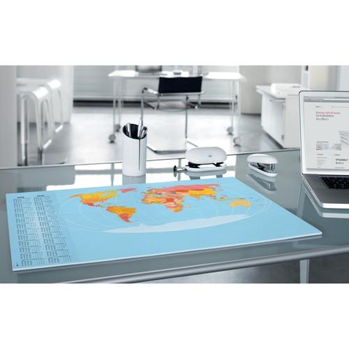 Schreibunterlage Weltkarte mit 2-Jahres Kalender 41x59,5cm 30Blatt Papier Sigel HO440 Produktbild Additional View 5 L
