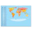 Schreibunterlage Weltkarte mit 2-Jahres Kalender 41x59,5cm 30Blatt Papier Sigel HO440 Produktbild