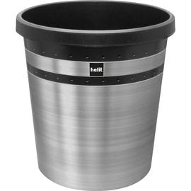 Papierkorb pureElegance 18l schwarz mit Edelstahl IML Dekor Helit H6107399 Produktbild