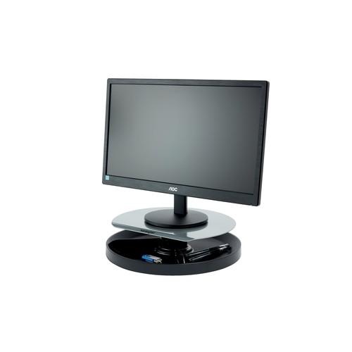 Monitor Ständer SmartFit Spin Station 343x102x343mm Metall/Kunststoff schwarz Kensington K52787WW Produktbild Additional View 2 L