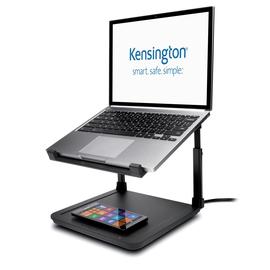 Laptop Ständer SmartFit mit Qi-Ladepad 28,2x11,7x27,4cm Metall/Kunststoff schwarz Kensington K52784WW Produktbild