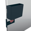 Stifteköcher M artverum 120x94x51mm magnethaftend anthrazit Sigel GL802 Produktbild Additional View 6 S