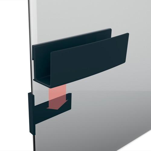 Ablagefach artverum 160x54x43mm magnethaftend anthrazit Sigel GL803 Produktbild Additional View 6 L
