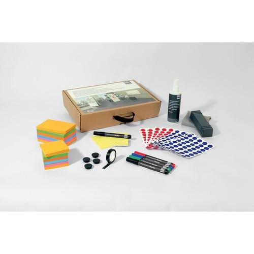 Toolkit für agiles Whiteboard Board Eraser + Spray + Stifte + Magnete + Haftmarker Sigel MU251 Produktbild Additional View 1 L