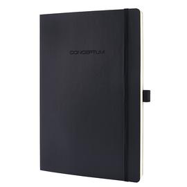 Notizbuch CONCEPTUM Softwave kariert A4+ 222x311mm 194Seiten black Softcover Sigel CO300 Produktbild