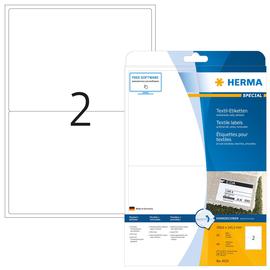 Namens-Etiketten Laser+Kopier 199,6x143,5mm auf A4 Bögen weiß gut ablösbar Acetatseide Herma 4519 (PACK=40 STÜCK) Produktbild