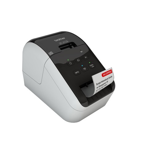 Etikettendrucker QL 810W für DK-Etiketten -62mm mit WLAN Brother  QL810WZG1 Produktbild Additional View 1 L