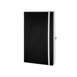 Buchkalender Chronobook 2020 A5 1Tag/1Seite schwarz Leinenprägung Softcover Chronoplan 50940 Produktbild