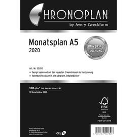 Monatsplan 2020 für Organizer A5 148x210mm Chronoplan 50280 Produktbild