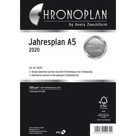 Jahresplan 2020 für Organizer A5 148x210mm Chronoplan 50270 Produktbild