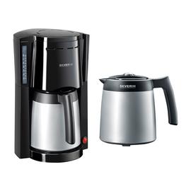 Kaffeemaschine SEVERIN + 1 Thermoskanne max. 8 Tassen KA 9482 schwarz/silber Produktbild