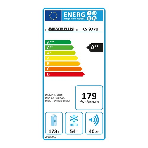 Kühl-Gefrierschrank 54Liter A++ weiß KS 9770 SEVERIN Produktbild Additional View 2 L