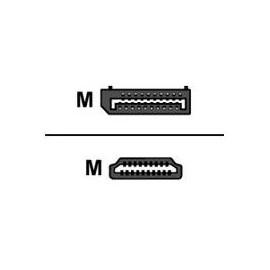 M-CAB - Videokabel - DisplayPort / HDMI - DisplayPort (M) bis HDMI (M) - 3 m - Schwarz Produktbild