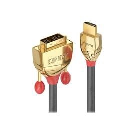 Lindy Gold Line - Videokabel - HDMI / DVI - HDMI (M) bis DVI-D (M) - 3 m - Dreifachisolierung Produktbild