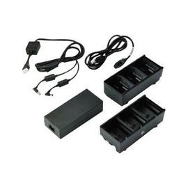 Zebra 3-Slot Battery Charger Connected via Y Cable - Batterieladegerät - Ausgangsanschlüsse: 3 - Großbritannien Produktbild
