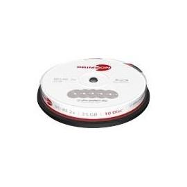 Primeon ultra-protect-disc - 10 x BD-RE - 25 GB 2x - Beschriftungsetiketten - Silber - Spindel Produktbild