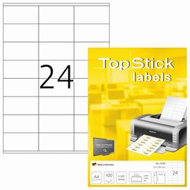 Etiketten Inkjet+Laser+Kopier 70x36mm auf A4 Bögen weiß BestStandard (PACK=2400 STÜCK) Produktbild