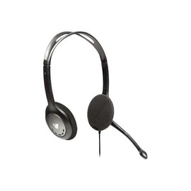 V7 HA201 - Headset - On-Ear - kabelgebunden - Schwarz Produktbild