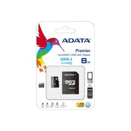 ADATA Premier UHS-I - Flash-Speicherkarte (microSDHC/SD-Adapter inbegriffen) - 8 Produktbild