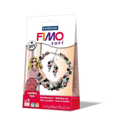 """Modelliermasse-Schmuckset DIY FIMO Soft """"Perle"""" 4x25g Staedtler 8025-08 Produktbild"""
