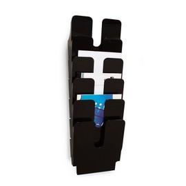 Prospektspender FLEXIPLUS 6 A4 6x 247x745mm schwarz Durable 1700008061 (SET=6 STÜCK) Produktbild