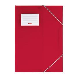 Eckspanner mit 3 Klappen A4 rot transluzent PP Brunnen 10-4160423 Produktbild