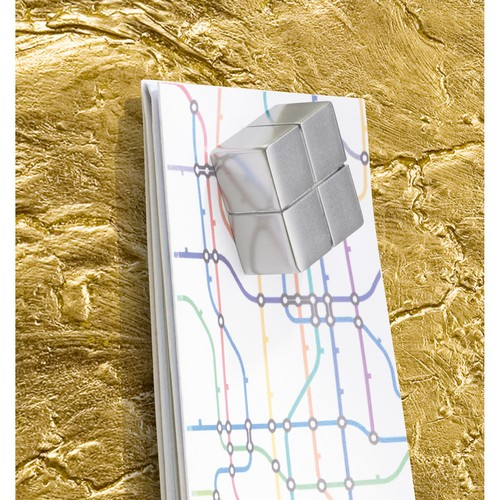 Glas-Magnetboard artverum 910x460x15mm Design Metallic-Gold inkl. Magnete Sigel GL266 Produktbild Additional View 4 L