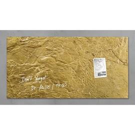 Glas-Magnetboard artverum 910x460x15mm Design Metallic-Gold inkl. Magnete Sigel GL266 Produktbild