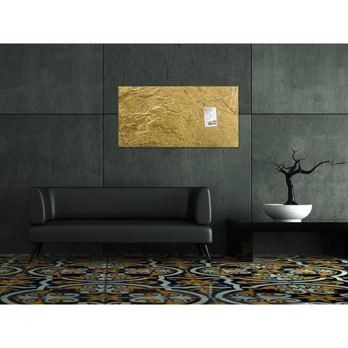 Glas-Magnetboard artverum 910x460x15mm Design Metallic-Gold inkl. Magnete Sigel GL266 Produktbild Additional View 6 L