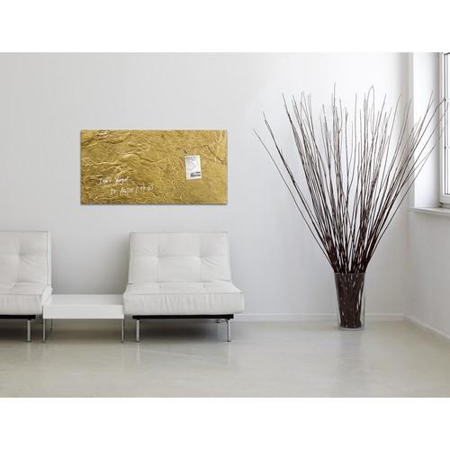 Glas-Magnetboard artverum 910x460x15mm Design Metallic-Gold inkl. Magnete Sigel GL266 Produktbild Additional View 7 L