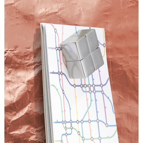 Glas-Magnetboard artverum 910x460x15mm Design Pure-Copper inkl. Magnete Sigel GL269 Produktbild Additional View 3 L